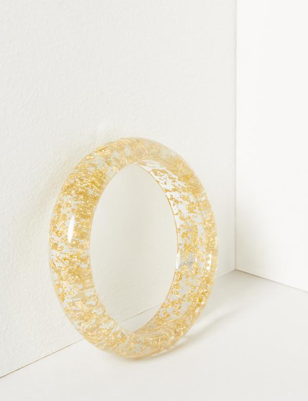 Speckled Resin Bangle Bracelet