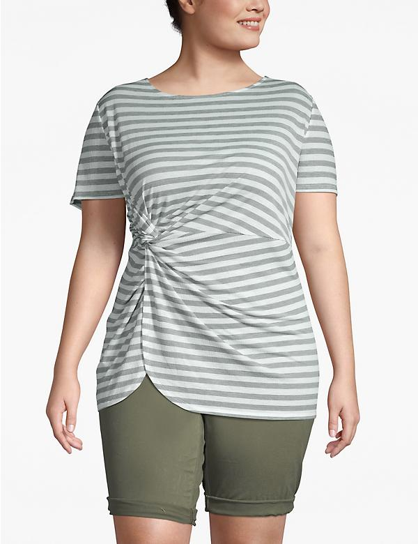 Striped Twist-Waist Tee