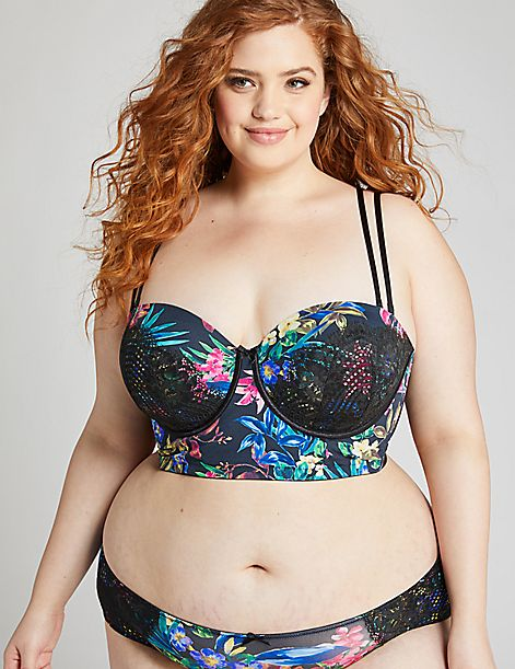 Lightly Lined Longline Multi-Way Strapless Bra