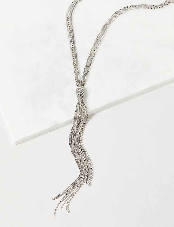 Multi-Strand Tassel Y-Necklace