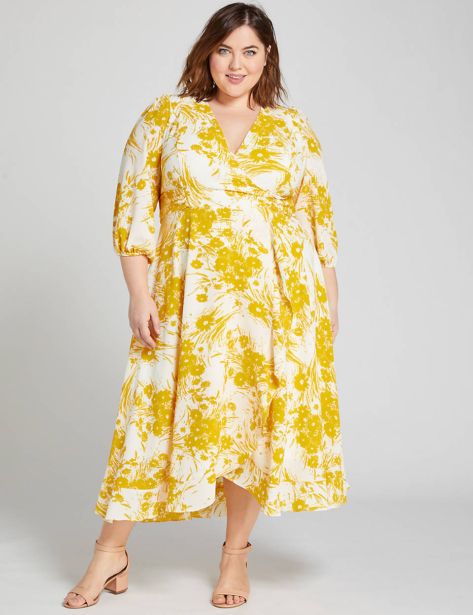 May Plus Size Style Horoscope- Floral Crossover Midi Dress