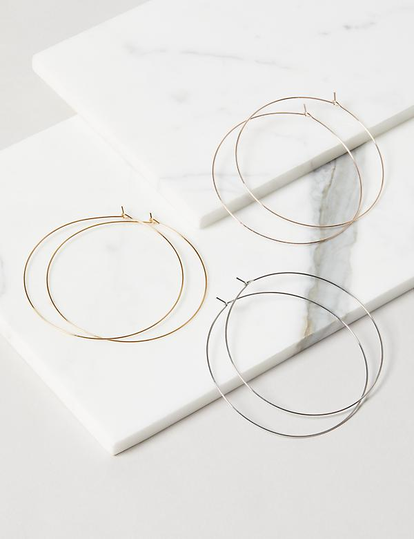 Wire Hoop Earrings 3-Pack