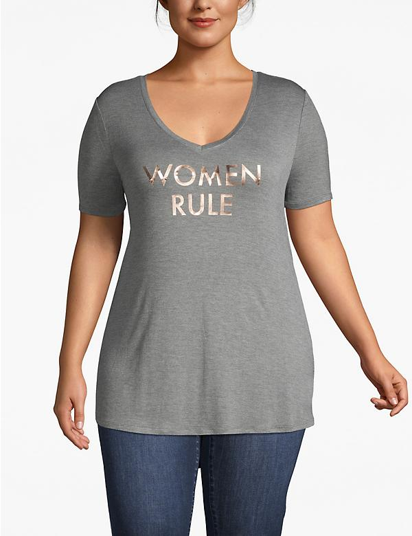 Women Rule Foil Graphic Tee