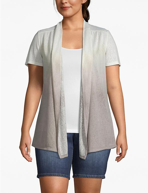 Effortless Chic Dyp-Dye Short-Sleeve Cardigan