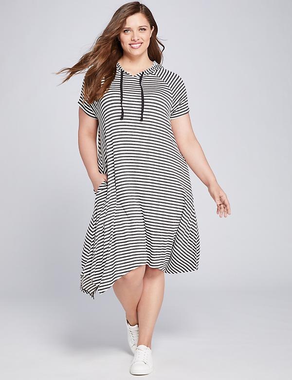 LIVI Striped Hoodie Dress