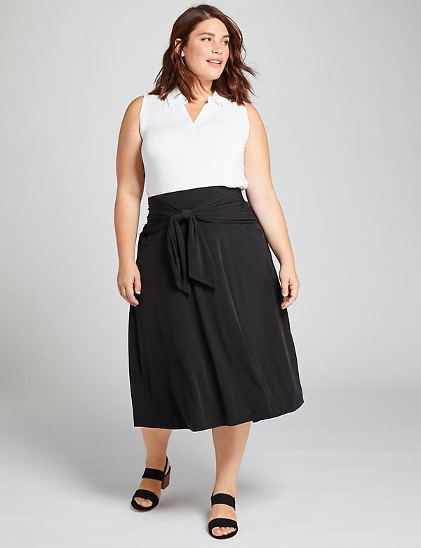 Knit Kit Tie-Front Skirt