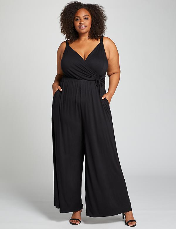Crossover Ankle Jumpsuit