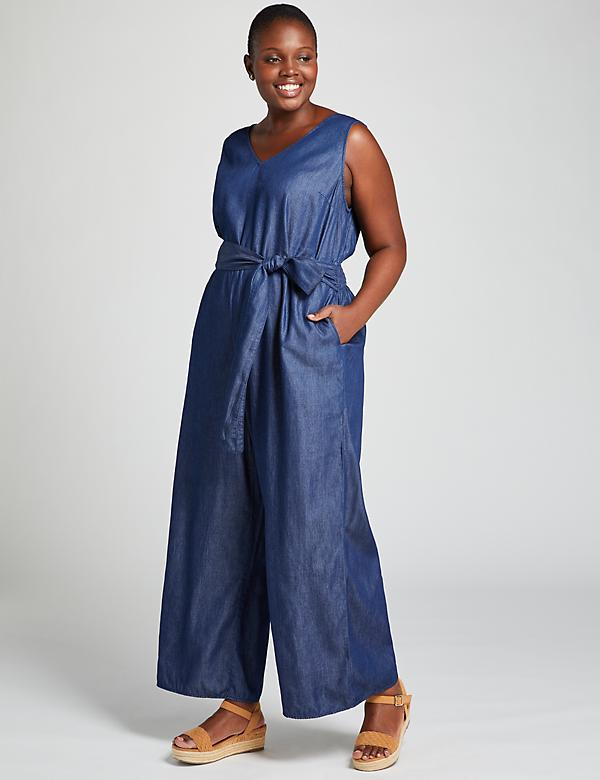 Chambray Ankle Jumpsuit