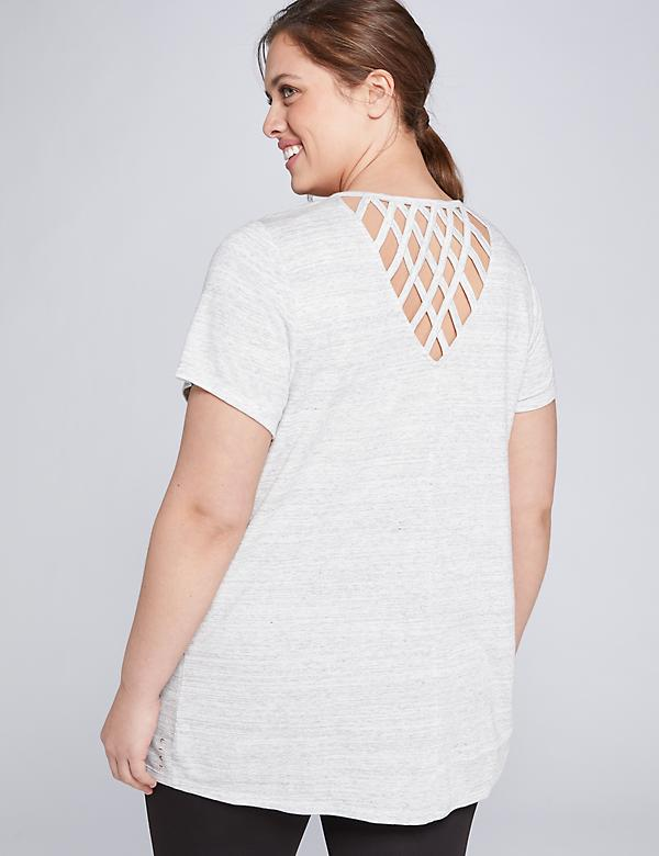 LIVI Lattice-Back Top
