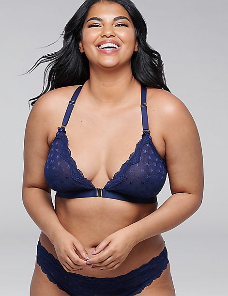 Star-Mesh Unlined No-Wire Bra