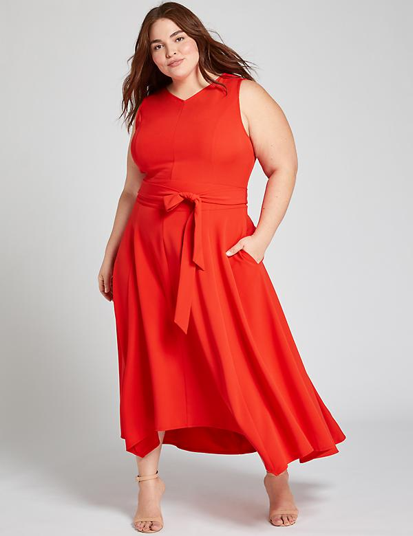Red High-Low Lena Dress