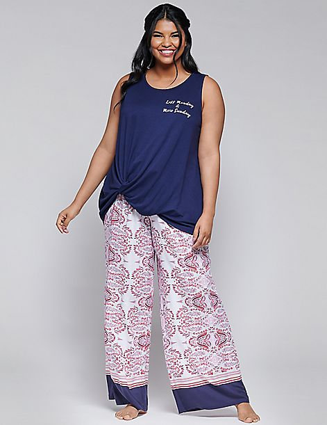 Wide-Leg Sleep Pant