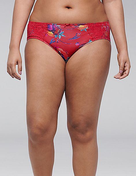 Floral Strappy-Back Hipster Panty