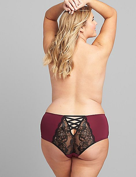 Mid-Waist Strappy-Back Cheeky Panty