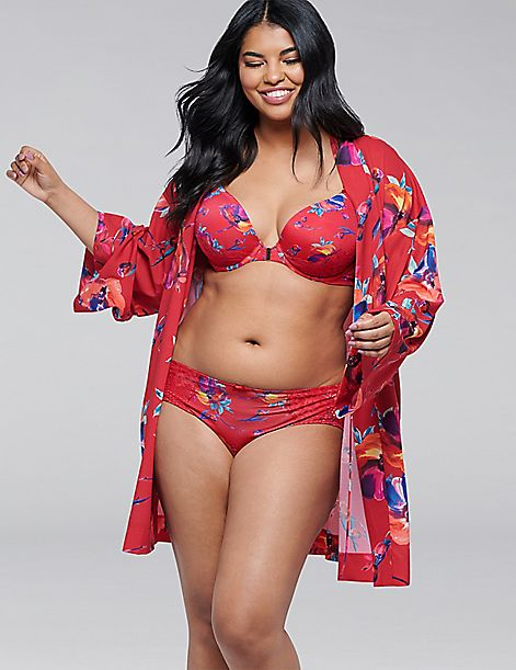 Floral Crepe Robe