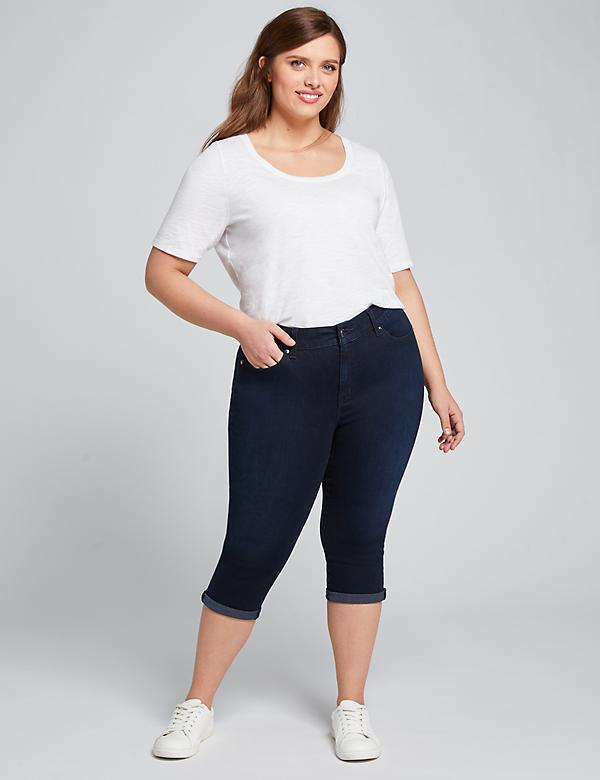 Curvy Fit High-Rise Pedal Jean - Dark Wash
