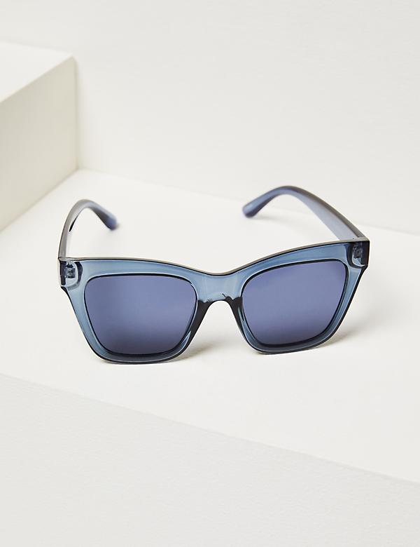 Oversized Cateye Sunglasses - Blue