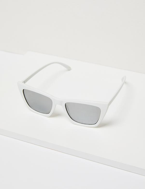 Cateye Sunglasses - White