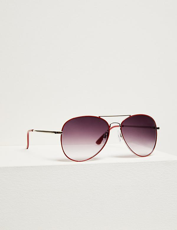 Classic Aviator Sunglasses - Red