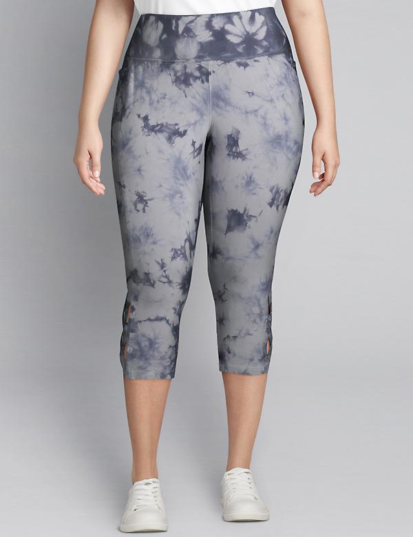 LIVI Capri Power Legging - Tie-Dye With Crisscross Hem