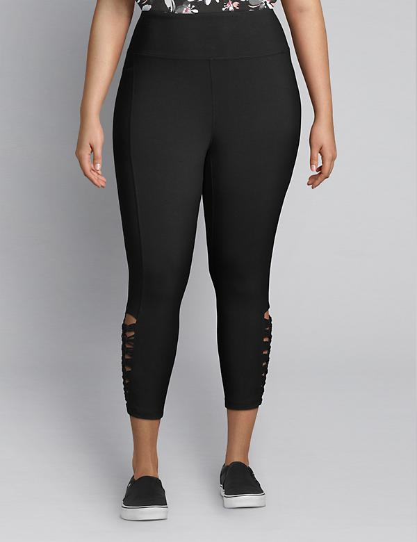 LIVI Capri Power Legging - Macrame Hem