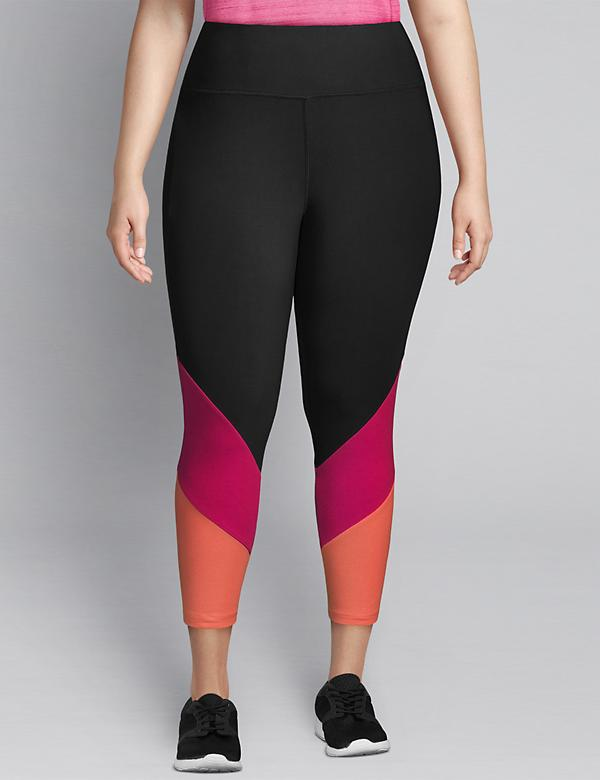 LIVI Capri Power Legging - Colorblock Hem