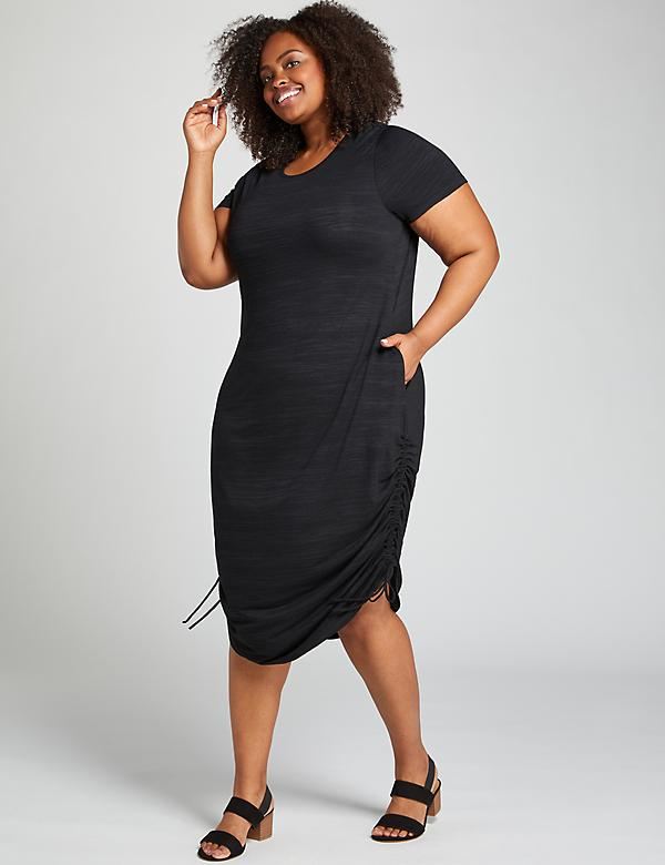 Ruched-Side Maxi Dress