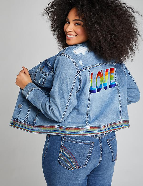 Pride Graphic Denim Jacket