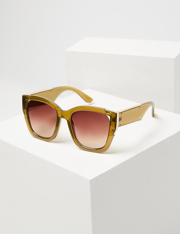 Translucent Sunglasses with Metal Detail