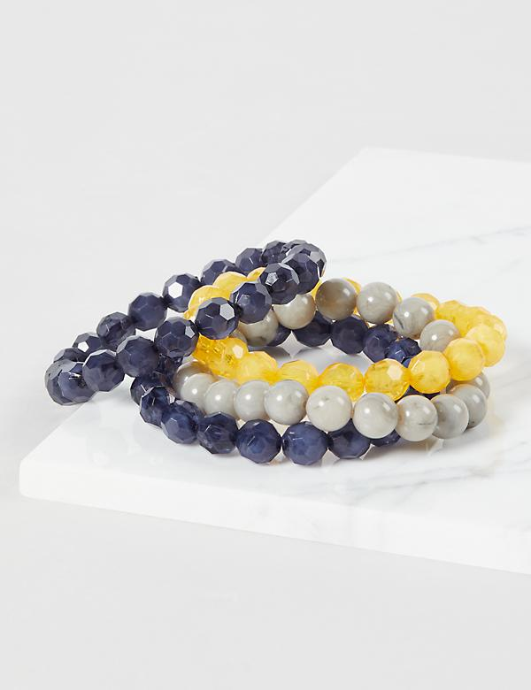 4-Row Beaded Stretch Bracelets