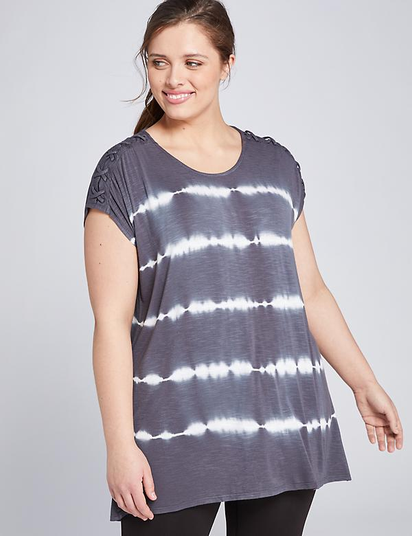 LIVI Lace-Up Shoulder Tunic Top