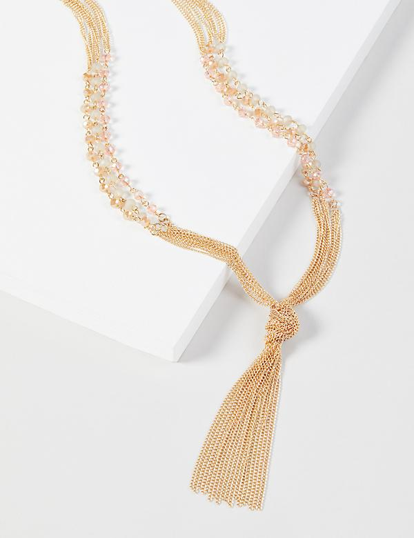 Multi-Layer Beaded Y-Necklace