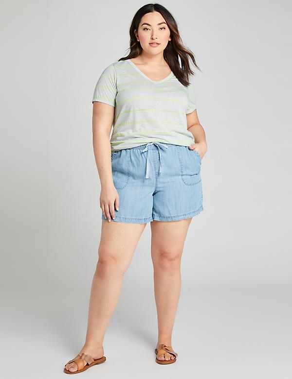 Pull-On Short - Chambray
