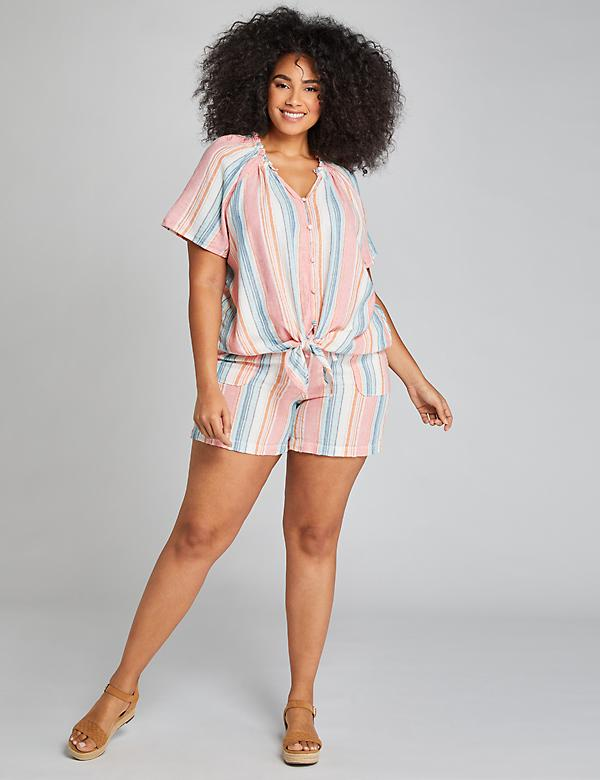 Pull-On Short - Shimmer Stripe