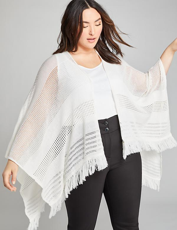 Open-Stitch Wrap Poncho