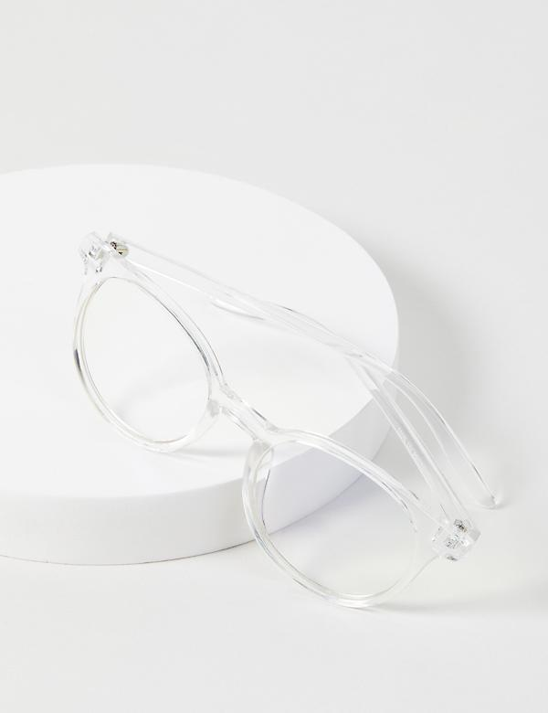 Clear Round Glasses - Blue Light Blocking