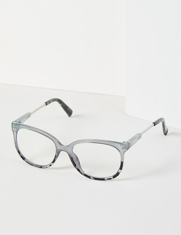 Gray & Tortoise Print Square Glasses - Blue Light Blocking
