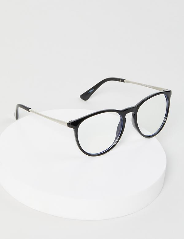 Black Round Glasses - Blue Light Blocking