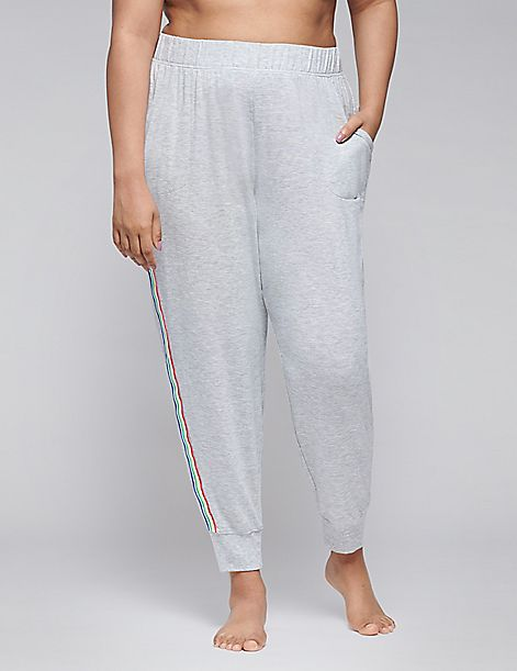 French Terry Sleep Jogger with Rainbow Stripe