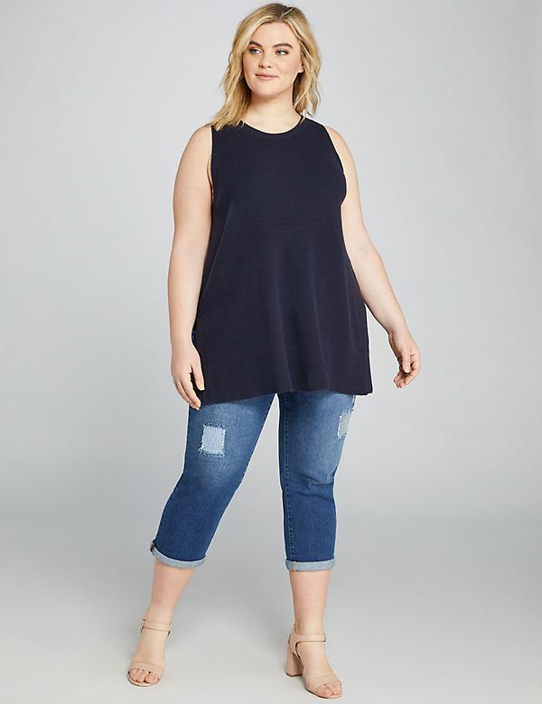 Signature Fit Girlfriend Crop Jean - Rip & Repair