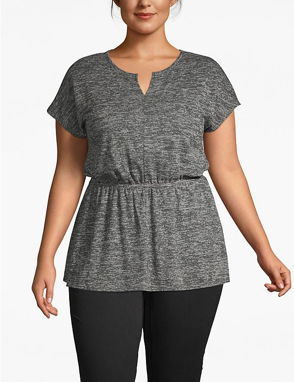 Textured Notch-Neck Tunic
