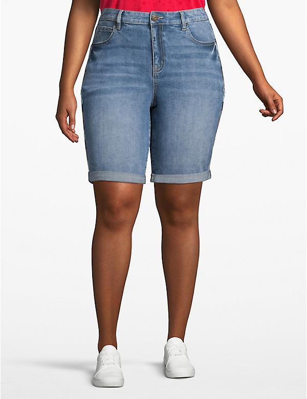 Venezia Denim Bermuda Short - Embroidered Seam