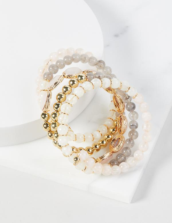 Beaded Wrap-Around Cuff Bracelet