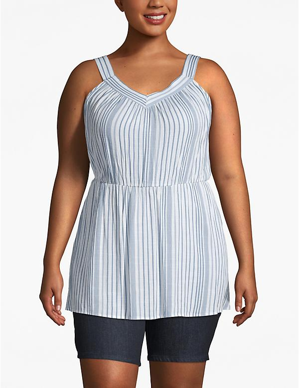 Striped Cinched-Waist Tunic