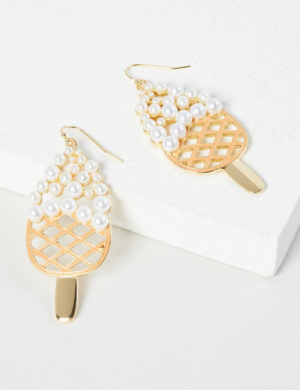 Pearlescent Ice Cream Drop Earrings