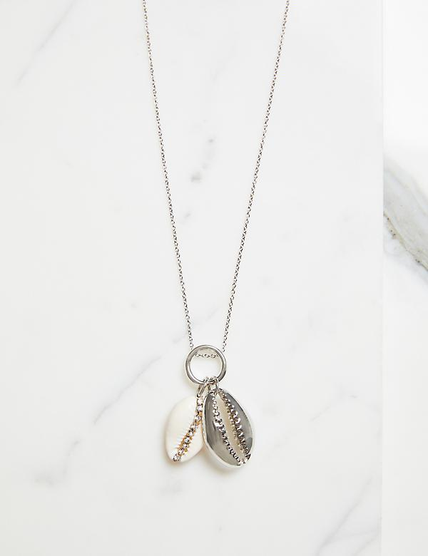 Double-Shell Pendant Necklace