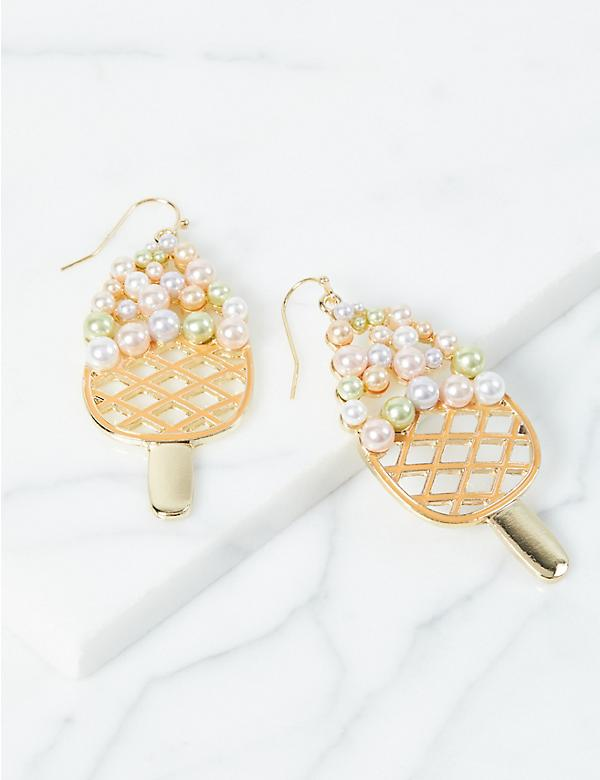 Multicolor Pearlescent Ice Cream Drop Earrings