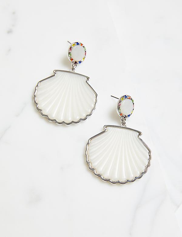 Resin Shell Drop Earrings