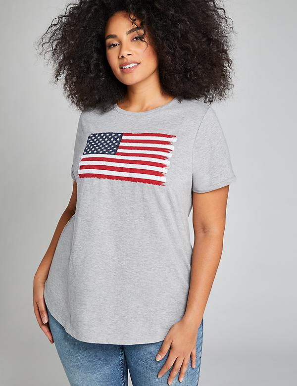 American Flag Graphic Tee