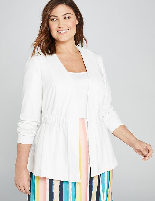 Drawstring Peplum Jacket